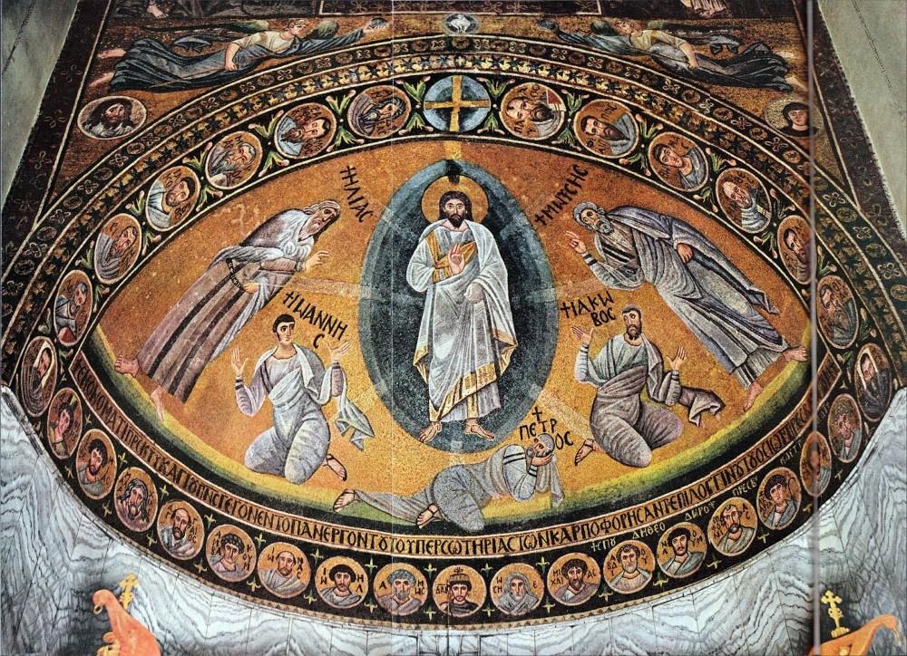 Jézus színeváltozása mozaik